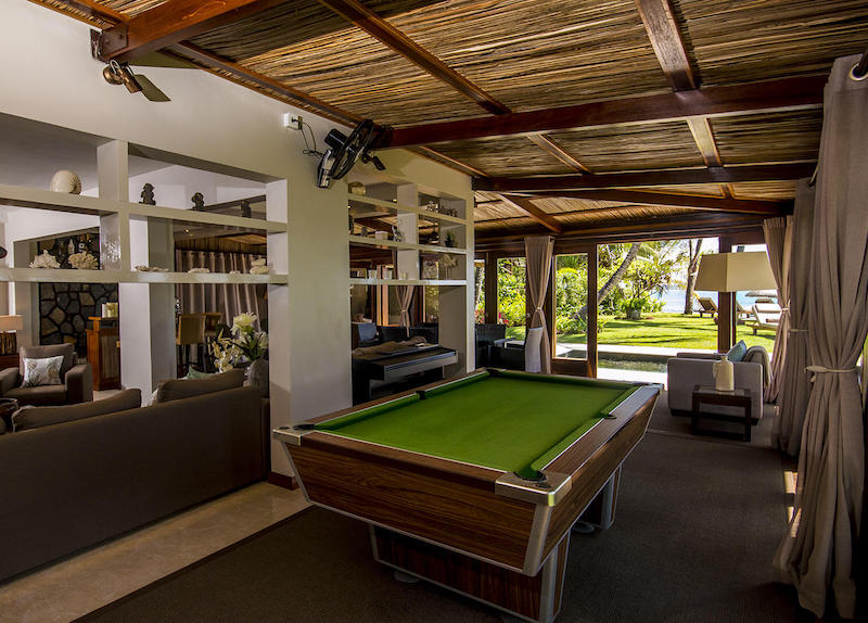 Beach villa in Mauritius. Luxury beach front accommodation on the island. AirBnB Mauritius