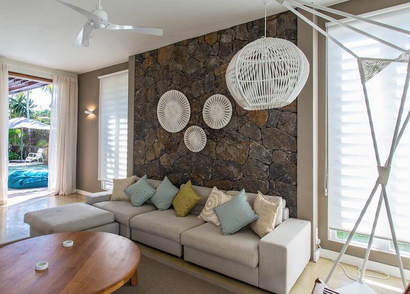 Villa Tourteaux in Mauritius main room